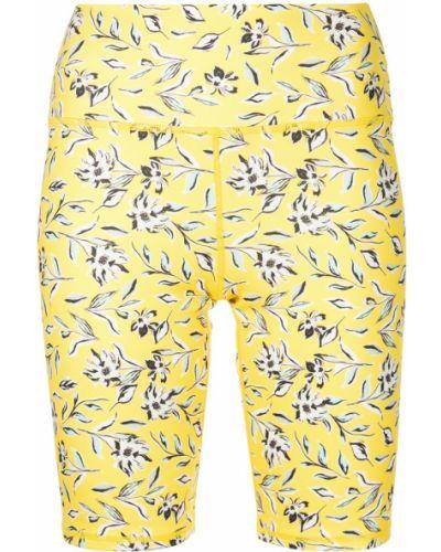 Желтые шорты в цветочный принт с завышенной талией Alice+olivia