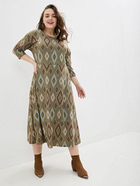 Повседневное платье хаки Gorda Bella