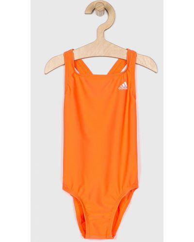 Оранжевый слитный купальник Adidas Performance