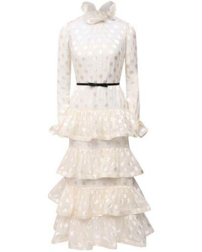 Шелковое белое платье с подкладкой Zimmermann