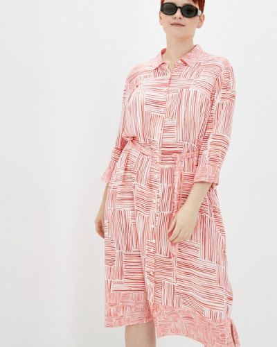 Розовое платье-рубашка Samoon By Gerry Weber