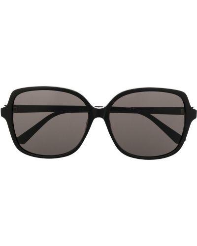 Золотистые черные солнцезащитные очки оверсайз Bottega Veneta Eyewear