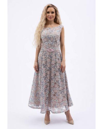 Кружевное вечернее платье без рукавов с вырезом Wisell