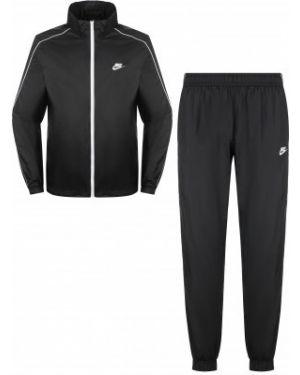 Нейлоновый черный классический спортивный костюм Nike