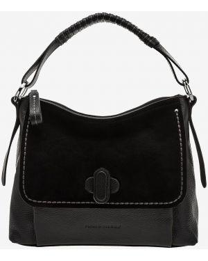 Кожаная сумка черная Plinio Visona