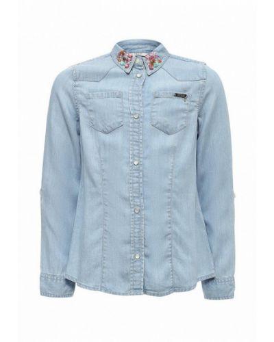 Джинсовая рубашка голубой Guess