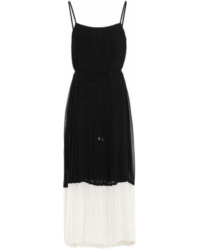 Czarna sukienka midi z paskiem Zimmermann