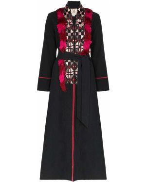 Длинное пальто с бахромой с вышивкой Figue