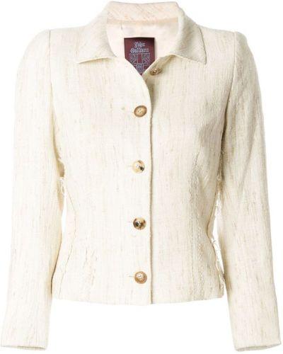 Однобортный классический пиджак с воротником на пуговицах John Galliano Pre-owned