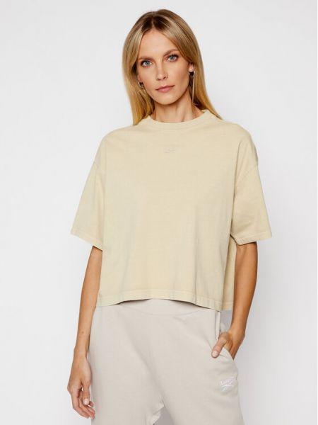 T-shirt - beżowa Reebok Classic