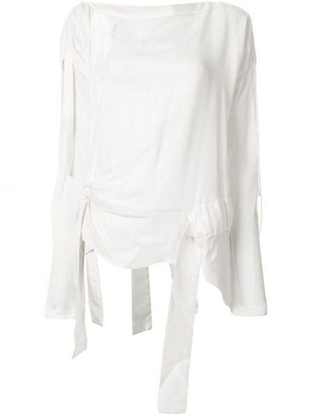 Блузка с вырезом - белая Taylor