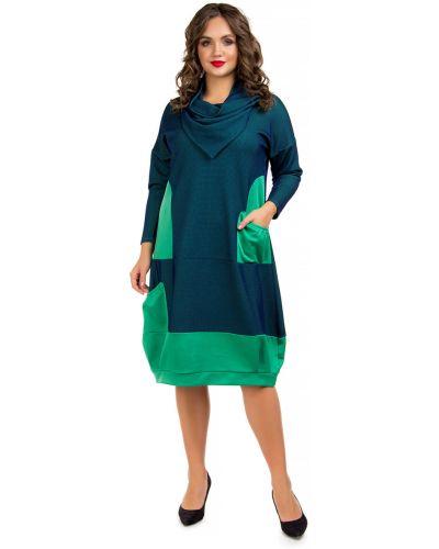 Платье макси длинное - синее Liza Fashion