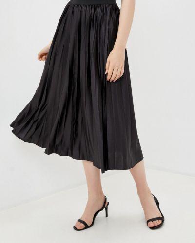 Плиссированная черная плиссированная юбка Mavi
