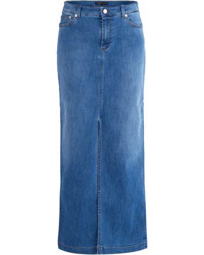 Джинсовая юбка макси - голубая Alexander Terekhov