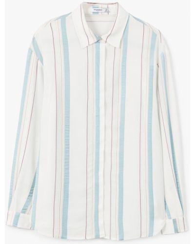 Блузка с длинным рукавом в полоску прямая Mango