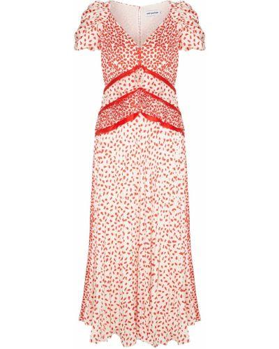 Платье мини на пуговицах коктейльное Self-portrait