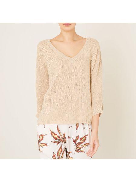 Ажурный пуловер с V-образным вырезом в рубчик Stella Forest