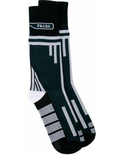 Носки с принтом итальянские черные Prada