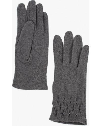 Серые перчатки текстильные Fabretti