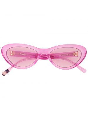Okulary z printem - różowe Doublet