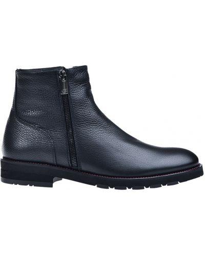 Кожаные ботинки осенние черные Dino Bigioni