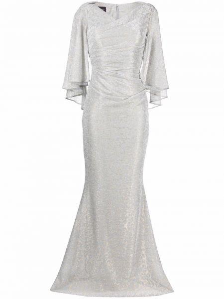 Платье с V-образным вырезом - серое Talbot Runhof