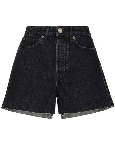 Свободные хлопковые черные джинсовые шорты 3x1