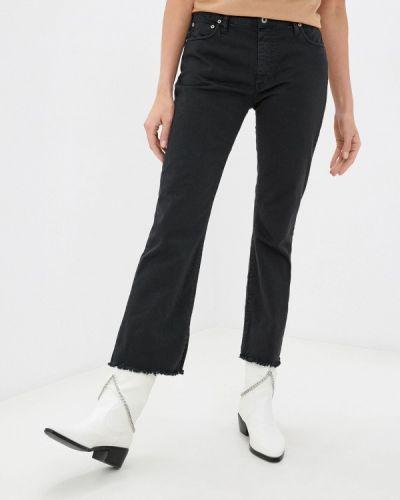 Черные широкие джинсы свободного кроя Please