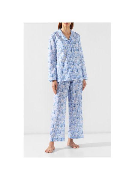 Пижама с брюками свободная с рубашкой Derek Rose