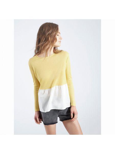 Желтый пуловер длинный Compania Fantastica