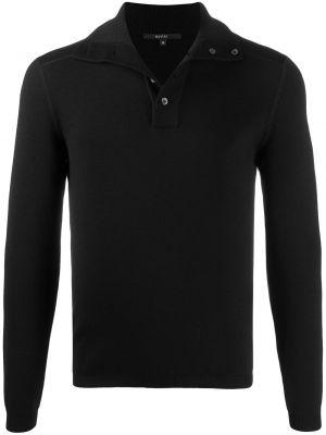 Czarny wełniany koszula z mankietami z kołnierzem Gucci