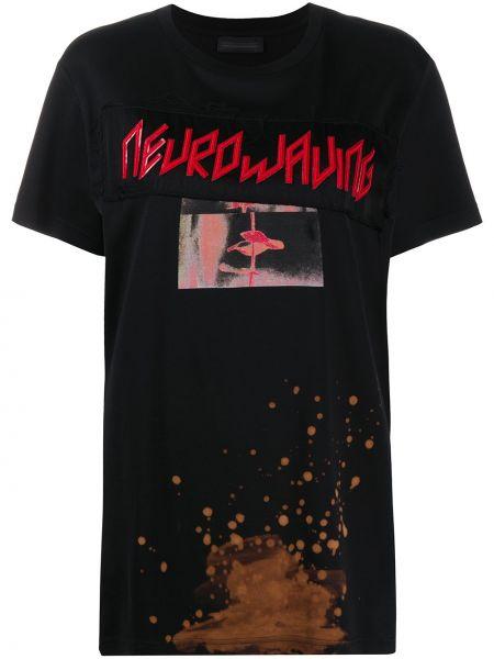 Хлопковая с рукавами черная футболка Diesel Black Gold