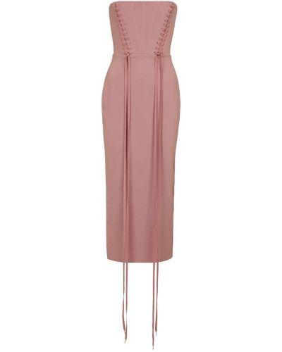 Платье миди - розовое Alex Perry