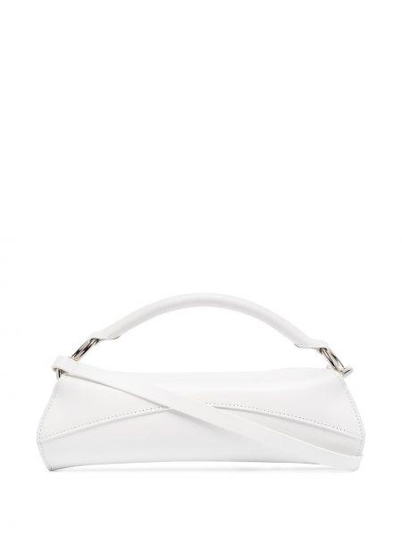 Кожаная белая кожаная сумка Venczel