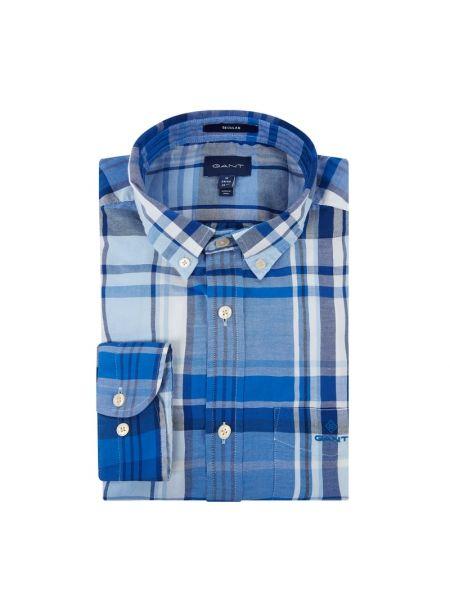 Koszula z długim rękawem Oxford z kieszeniami Gant
