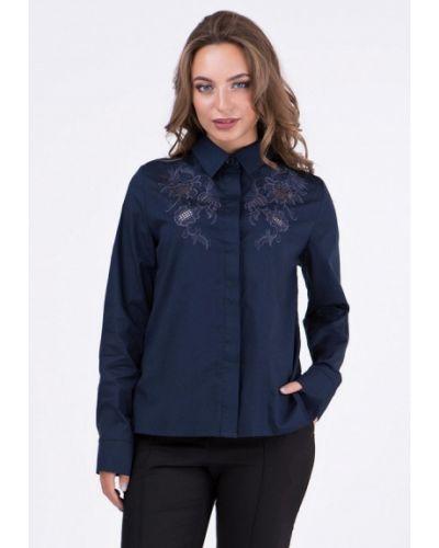 Блузка с длинным рукавом синяя Ricamare