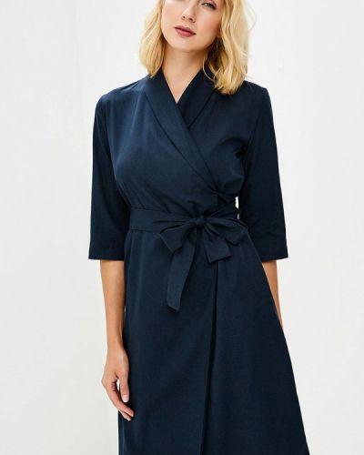 Платье с запахом синее Pepen