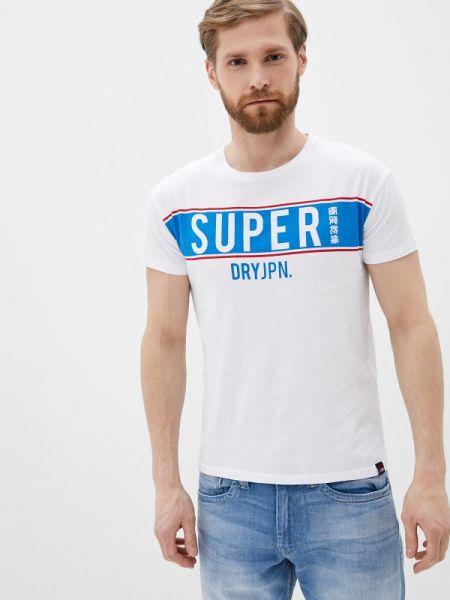 Поло белое футбольный Superdry