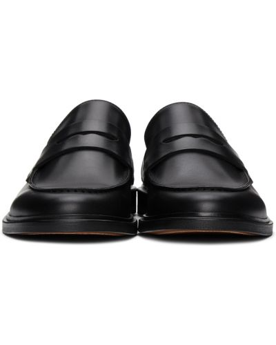 Czarne loafers skorzane na obcasie Common Projects