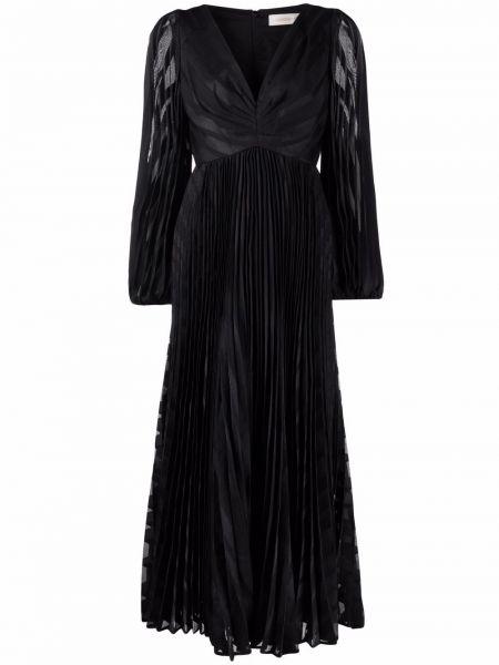 Платье миди с длинными рукавами - черное Zimmermann