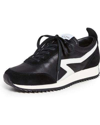 Buty sportowe skorzane - czarne Rag & Bone