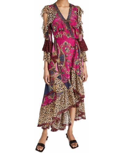 Асимметричное шелковое платье стрейч Camilla