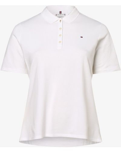 T-shirt - biała Tommy Hilfiger Curve