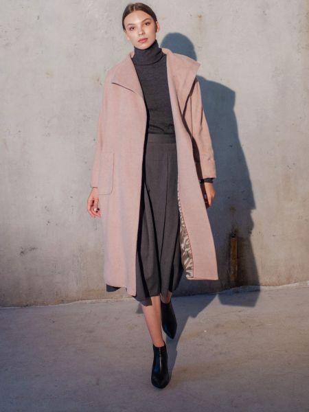 Пальто casual - розовое Mariolli