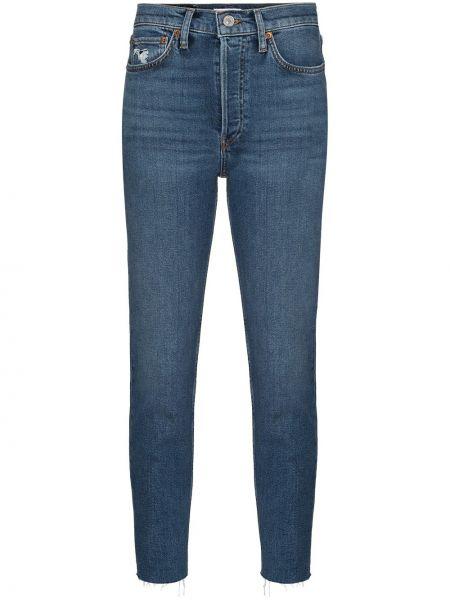Bawełna bawełna niebieski jeansy do kostek Re/done