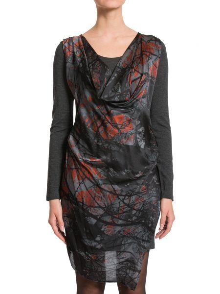 Шерстяное платье - серое Plein Sud