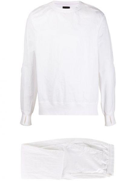Biały dres bawełniany z długimi rękawami Maharishi