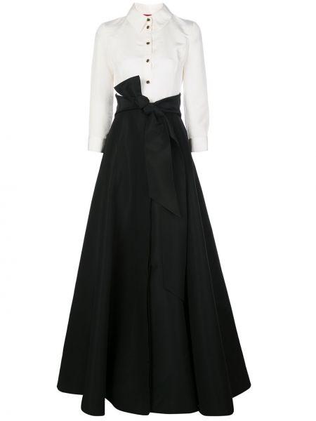 Платье макси на пуговицах классическое Carolina Herrera