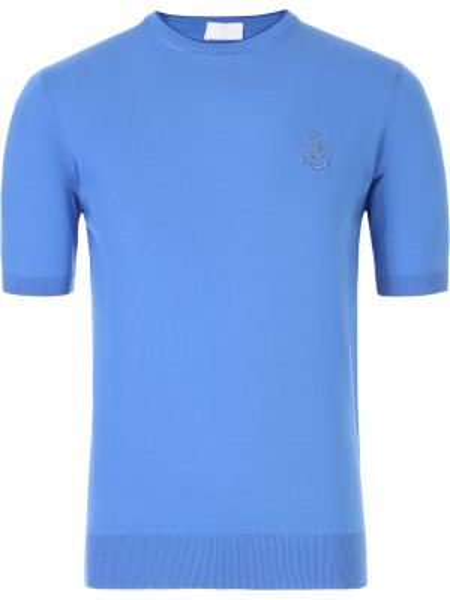 Хлопковая футболка с круглым вырезом круглая с поясом Castangia