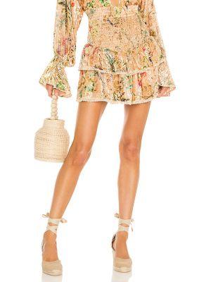 Повседневная оранжевая бархатная юбка Hemant And Nandita